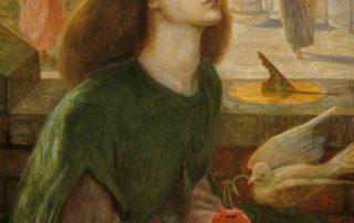 Rossetti, Dante Gabriel; Beata Beatrix; Birmingham Museums Trust; silence