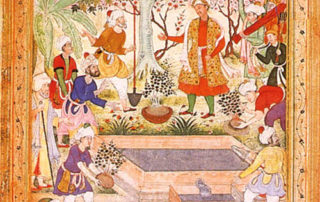 Babur directs the laying out of a garden at Islalif